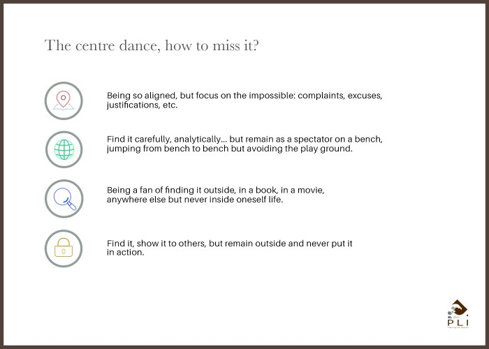 The centre dance, how to miss it Sans Cadre
